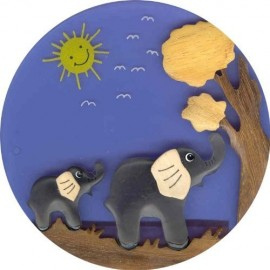 Children's Glow Plug In Night Light - Elephant Mummy & Baby