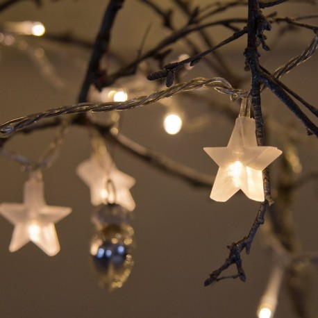 Fairy Lights, Star Shaped, Warm White 30 LEDs by Lights4fun