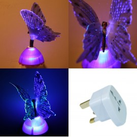 Purple Firbe Optic Butterfly Light