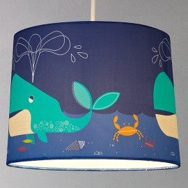 Little Home at John Lewis Easy-to-fit Waves & Whales Ceiling Pendant Shade