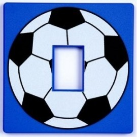 Boys Blue Football Light Switch Cover