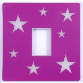Girls Pink Glow In the Dark Light Switch Cover