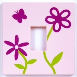 Pink Flower light Switch Cover