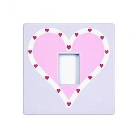 Queen of Hearts Lilac Light Switch Cover