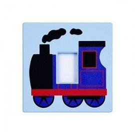 Blue Train Light Switch Cover