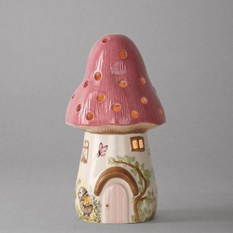 Dewdrop Pink Toadstool Children's Lamp