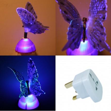 Purple Firbe Optic Butterfly Light