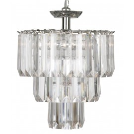 Girls Clear acrylic Pendant Shade with chrome frame