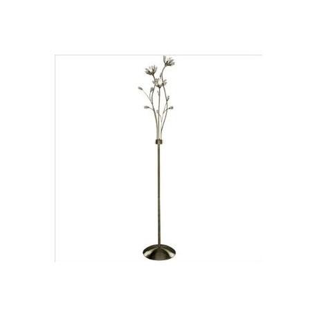 Hibiscus Floor Lamp in Antique Brass